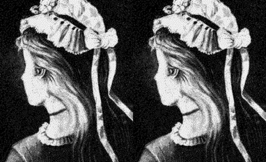 Este viejo retrato tiene una ilusión óptica
