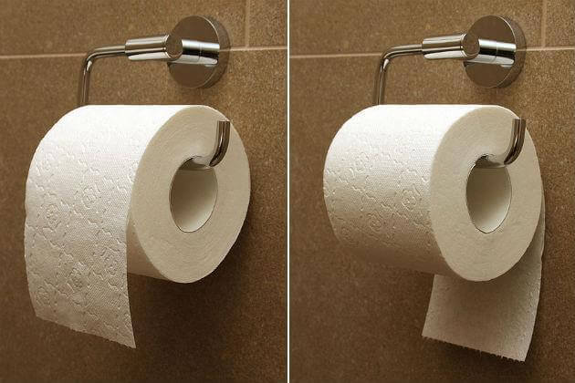 En qué dirección debe mirar su rollo de papel higiénico