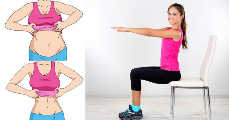 Con estos 5 ejercicios de silla, ¡te desharás de tu grasa abdominal!