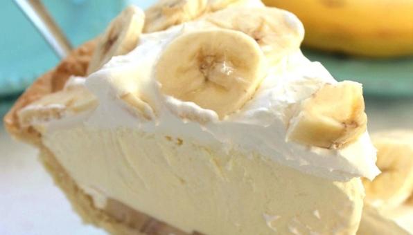 Este pie de banano cremoso y suave