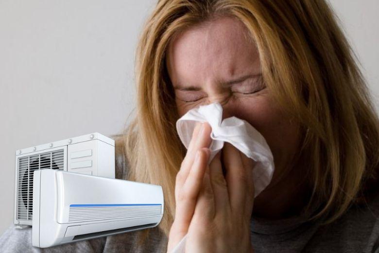 aire acondicionado enfermo