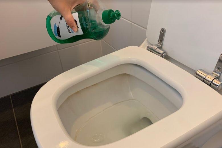 jabón de lavaplatos el retrete