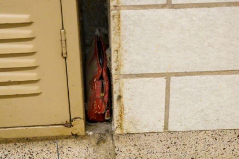 mochila de la escuela