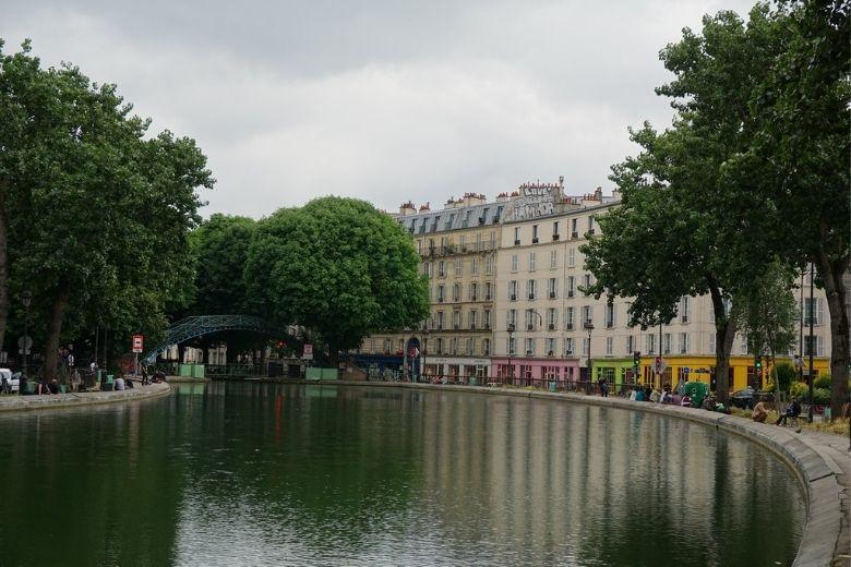 canal drenado en París