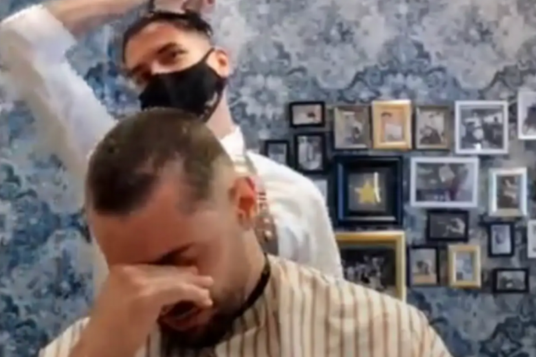 Paciente de cáncer de peluquero